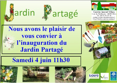 Inauguration jardin partagé
